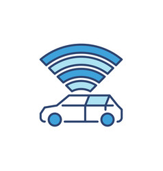 Autonomous vehicle - av concept blue vector