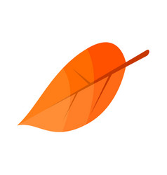 autumn leaf icon isometric style vector image