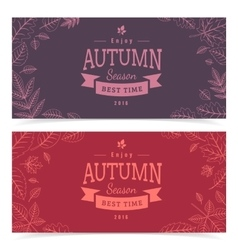 Autumn leaves and sale text vector image