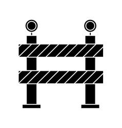 Barrier restricted street stripe design pictogram vector