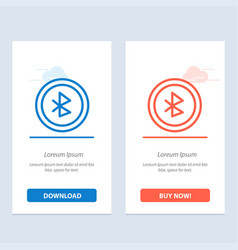 Bluetooth ui user interface blue and red download vector