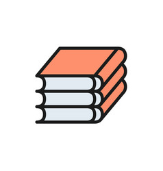books law codes flat color icon vector image
