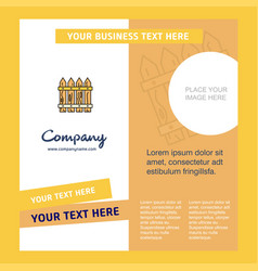 boundary company brochure template busienss vector image