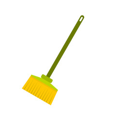 broom icon flat style vector image