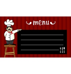 Chef and daily menu vector
