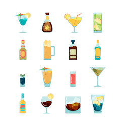 cocktail alcoholic icon martini vodka and vector image
