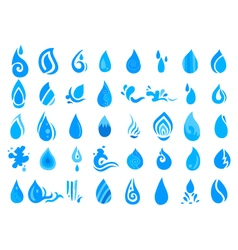 Collection of water icon vector