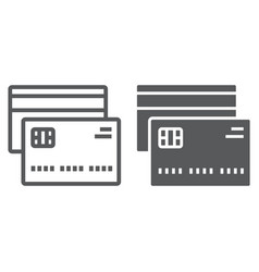 Credit card line and glyph icon finance banking vector