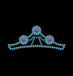 Crown from gemstones vector image