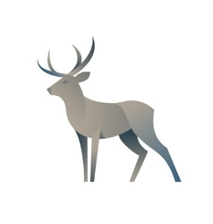 Deer graphic color for the modern vector