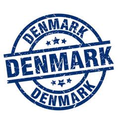 Denmark blue round grunge stamp vector