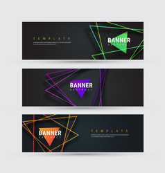 design a black horizontal banner vector image