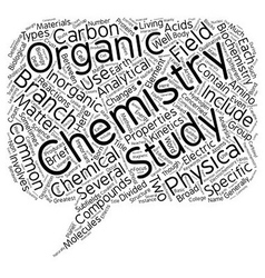 Different Branches Of Chemistry text background vector