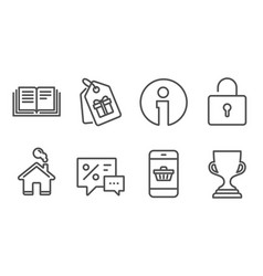 Discounts lock and coupons icons smartphone vector
