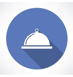 Dish with lid icon vector