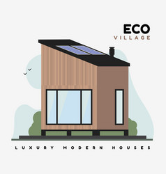 eco village flat luxurious modern houses vector image