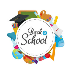 Education supplies and back to school knowledge vector