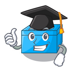 Graduation cartoon tissue box in the restaurant vector