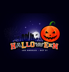 halloween party background los angeles vector image