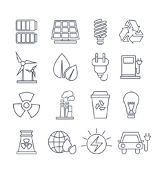 Hand Drawn Eco Energy Icons Set vector