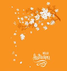 Hello autumn yellow image vector