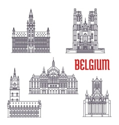 Historic buildings and architecture of Belgium vector