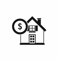 House and dollar sign icon simple style vector image