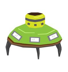 Isolated geometric ufo toy vector