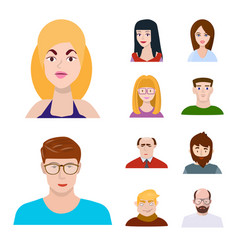 Isolated object avatar and people logo set vector