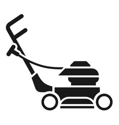 Lawnmower icon simple style vector