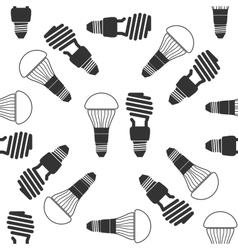 LED bulbs and fluorescent light bulb icon pattern vector