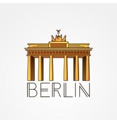 linear icon german brandenburg gate in vector image