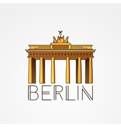 Linear icon of German Brandenburg Gate in vector