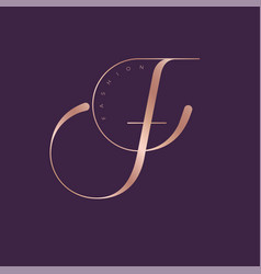 logo f monogram fashion luxury vector image