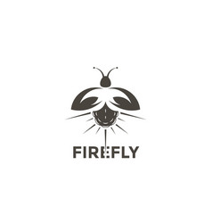 Logo firefly on a white background vector