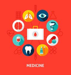 medicine concept icons vector image