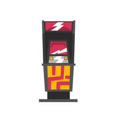 modern slot machine on a white vector image