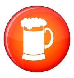 Mug of dark beer icon flat style vector