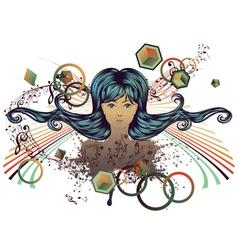 Music Girl2 vector image