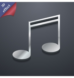 Music note icon symbol 3D style Trendy modern vector image