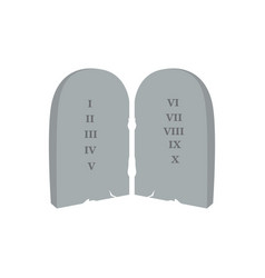 pair of stones with laws christian object vector image