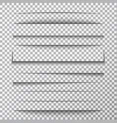 Paper shadows set on transparent background page vector