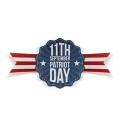 Patriot Day 11th September Banner vector image
