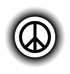 Peace symbol buttom vector image