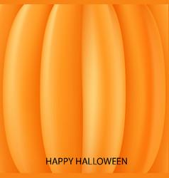 Realistic pumpkin for halloween vector