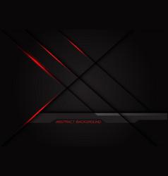 Red light cross line shadow on dark grey vector