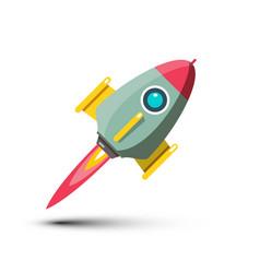 rocket icon isolated on white background vector image