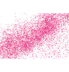 Scarlet explosion of confetti isolated on white vector