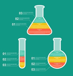 Set flat modern infographic on science vector