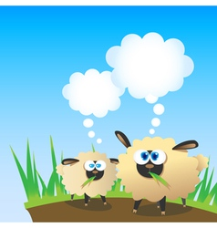 sheep are thinking vector image
